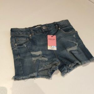 🩳 Girl's denim cut off shorts